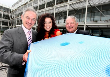 Minister for Jobs, Enterprise and Innovation Richard Bruton TD, Joanna Murphy, Managing Director, Protherm Insulation, Hugh Cooney, Chairman, Enterprise Ireland.