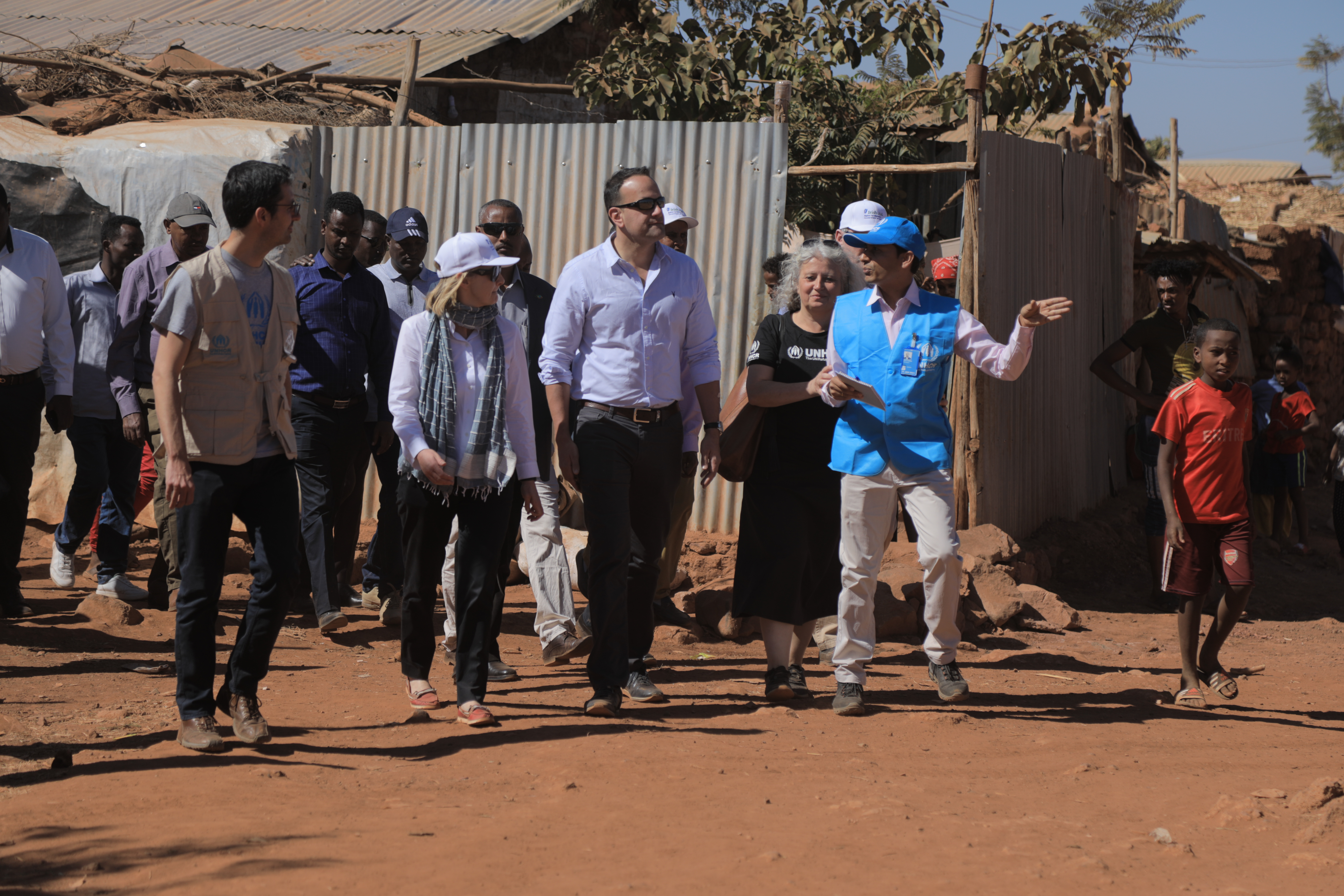 An Taoiseach visiting the UNHCR refugee camp