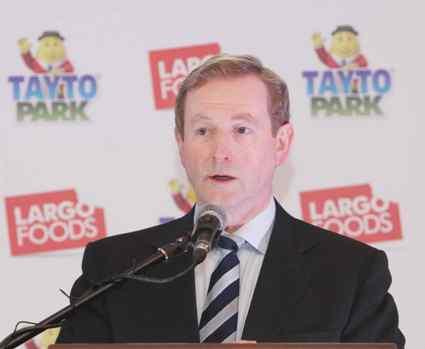 Taoiseach Enda Kenny at Tayto Park today
