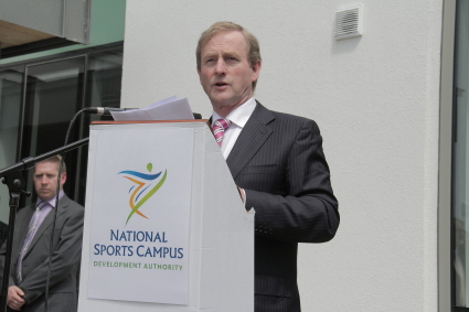 Taoiseach Enda Kenny speaking at the opening today
