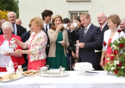 Taoiseach Enda Kenny with Caroline Kennedy at the Kennedy Homestead, Dunganstown