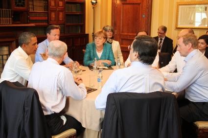 Taoiseach Enda Kenny takes part in EU/US trade talks