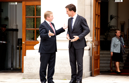 Taoiseach Enda Kenny welcomes Prime Minister of the Netherlands Mark Rutte to Government Buildings