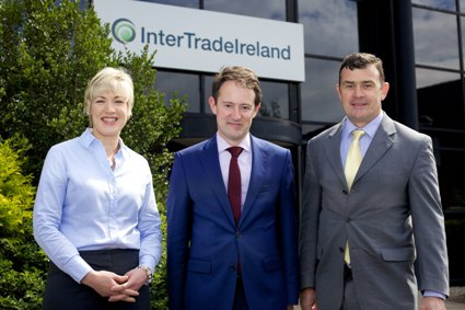 Minister Sherlock pictured with Margaret Hearty and Aidan Gough of InterTradeIreland at their offices in Newry