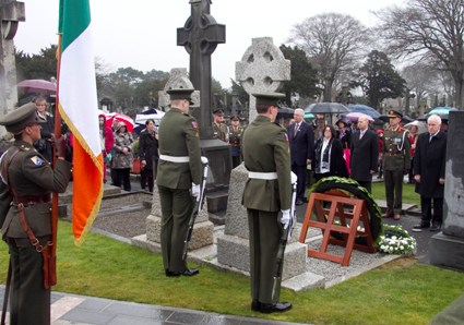 The ceremony at Glasnevin Cemetery