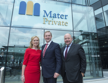 Pictured are Anna Fitzgerald Chief Executive Mater Private Cork, Fergus Clancy, Group CEO Mater Private Group and An Taoiseach Enda Kenny