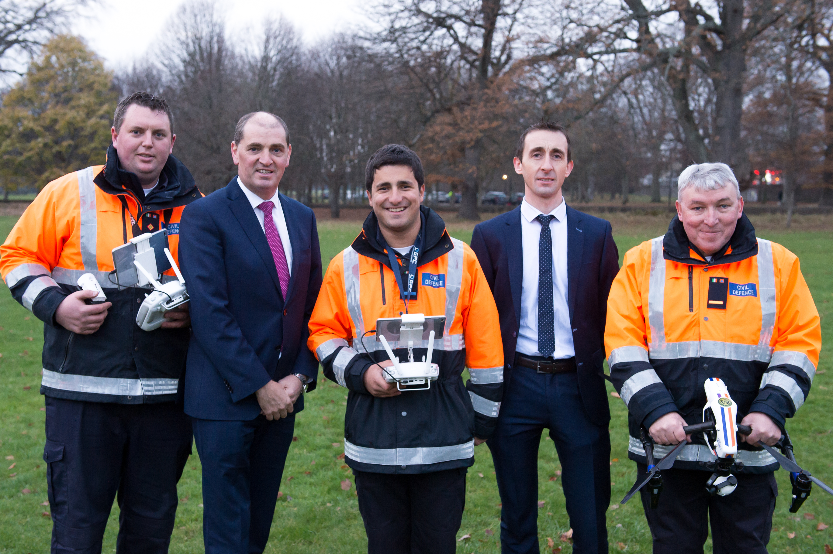 Minister with Responsibility for Defence, Paul Kehoe T.D., attends Awarding of Drone Licences to 43 Civil Defence Volunteers