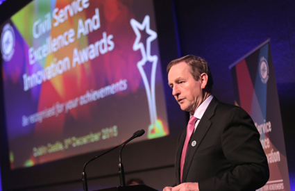 Taoiseach and Minister Howlin present Civil Service Excellence and Innovation Awards