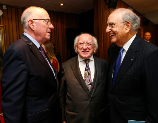 20160410 Minister Flanagan with Senator George Mitchell