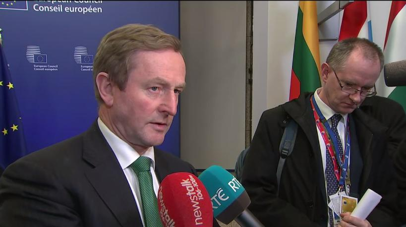 Taoiseach's Doorstep at European Council