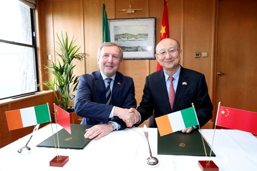 Minister Creed & Minister Zhi Sign Landmark Protocol in Dublin