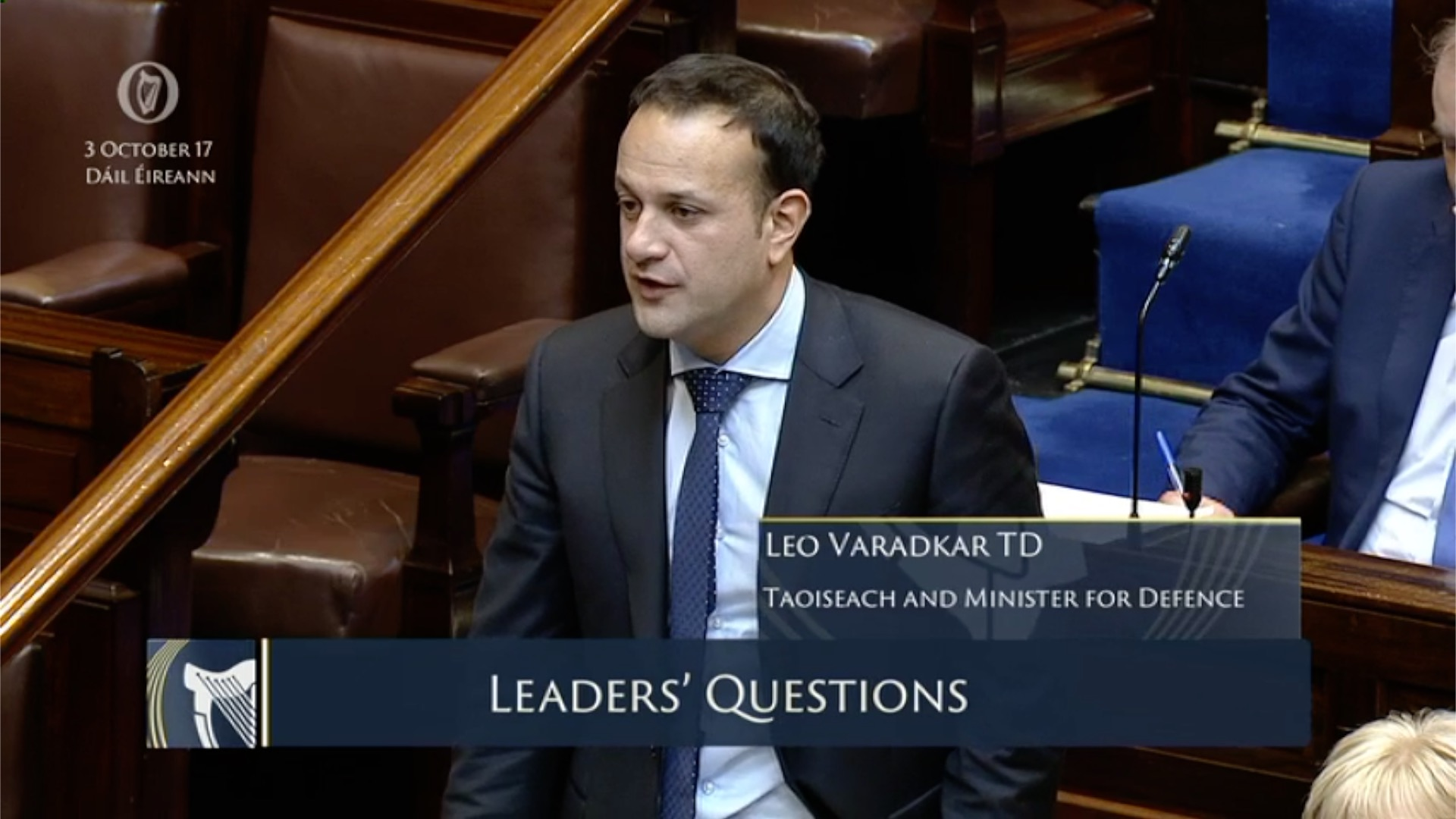 Leaders' Questions 3rd October 2017