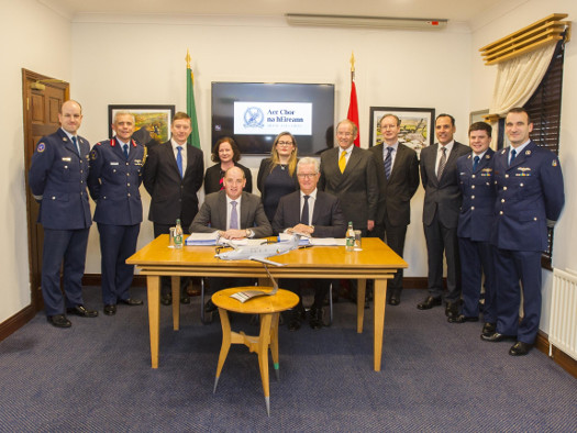 Minister Kehoe Signs Contract for Three New Fixed Wing Utility Aircraft for the Air Corps
