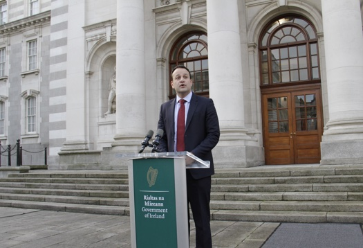 Taoiseach Leo Varadkar speaking after first Cabinet meeting of the year