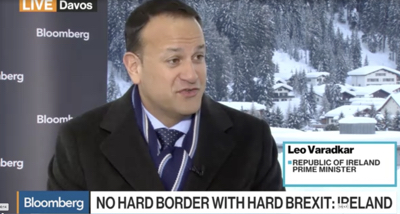 Taoiseach Leo Varadkar interviewed by Bloomberg in Davos