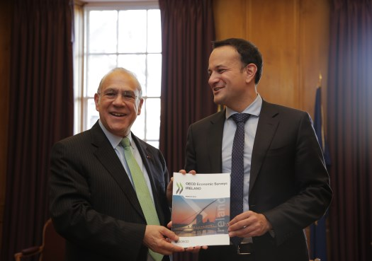 Visit of Mr. Angel GurrÍa, Secretary General of the OECD