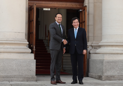 Visit of the Prime Minister of the Republic of Korea, Mr. Lee Nak-yon