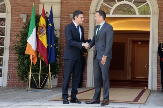 Taoiseach Leo Varadkar in Madrid to meet with new Spanish Prime Minster Pedro Sánchez