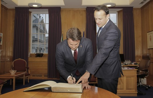 Courtesy call by H.E. Mr Xavier Bettel, Prime Minister of Luxembourg