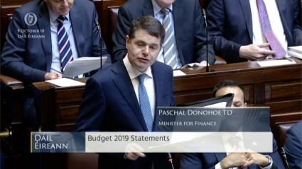 Budget 2019 Statement from Minister Paschal Donohoe