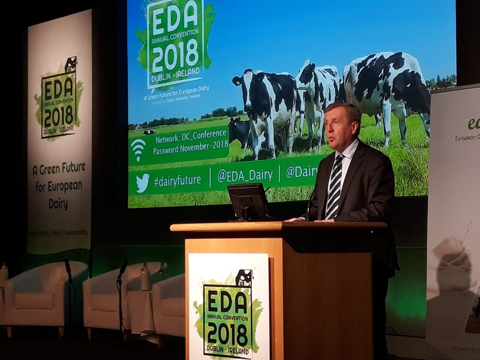 Minister Creed Officially Opens European Dairy Conference 2018