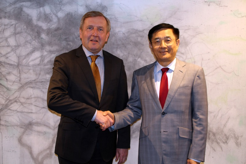 Minister Creed Pays Tribute to Departing Chinese Ambassador to Ireland H.E. Yue Xiaoyong