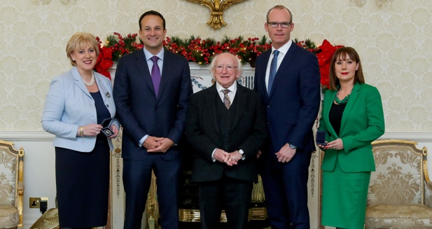 New Tanaiste and Ministers at the Aras