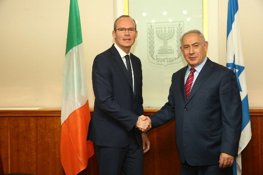 Minister Coveney meets with Israeli Prime Minister Benjamin Netanyahu
